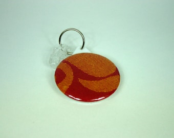 Babywearing mirror / Lenny lamb Twisted leaves Red & Orange wrap / pocket mirror / key ring