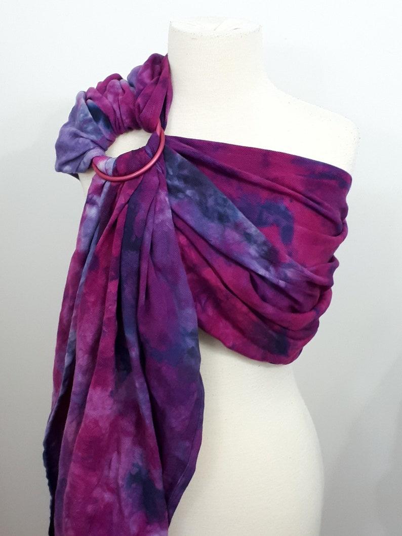 Gathered ring sling medium wrap conversion cotton  Linen image 0