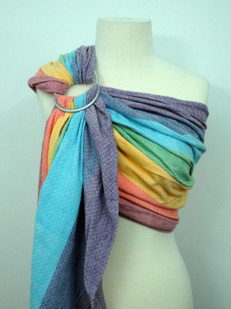 74ef85f8131 Girasol wrap conversion ring sling Light Rainbow 100%