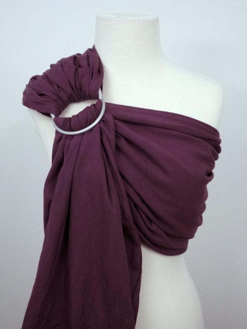 Plum woven ring sling  100% organic cotton image 0