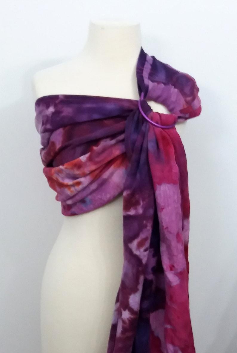Hybrid shoulder ring sling wrap conversion cotton  Linen image 0