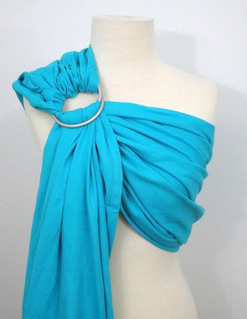 Turquoise ring sling  100% organic cotton image 0