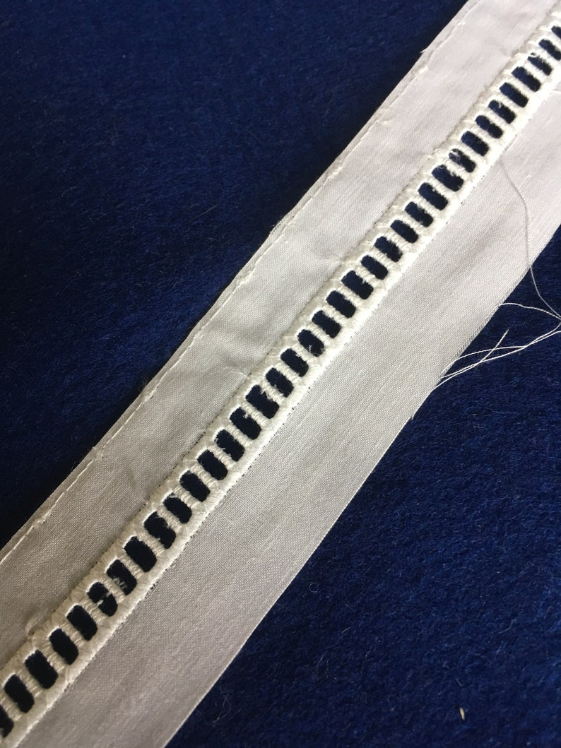 lots of 10 yards Off-white cotton insertion eyelet lace 1 58 wide