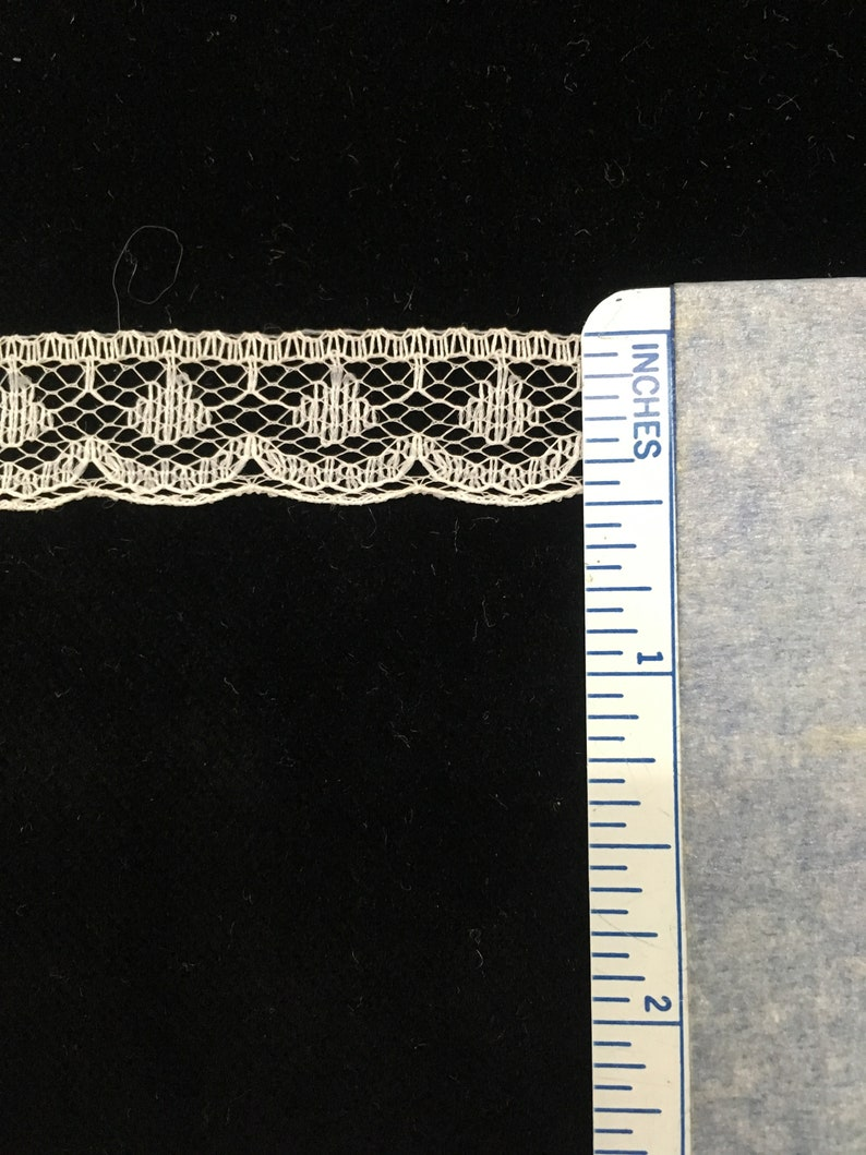 1 lot of 60 yards 12wide Delicate Ecru Nylon Acetate lace edging