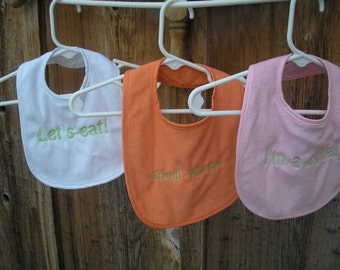 Embroidered Bibs for Girls