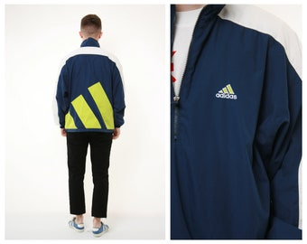 Adidas Shell Jacket Green XLarge | BLOC Vintage Clothing