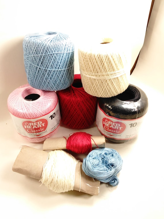 Collection Of 8 Spools Of Crochet Threadnew And Open Etsy