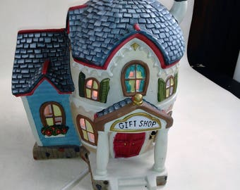 Egg Shaped Lighted Gift Shop For Holiday Decorating/Ideal For Easter Or Add To Your Christmas Display/Great Condition/Ceramic