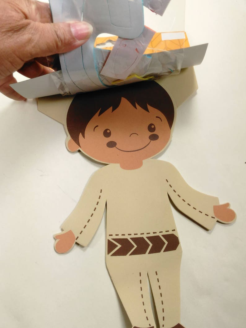 Indian Boy And GirlGreat For ThanksgivingEach Individually WrappedMade By CreatologNew Y Set Of Three Foam Children/'s Craft KitsTurkey