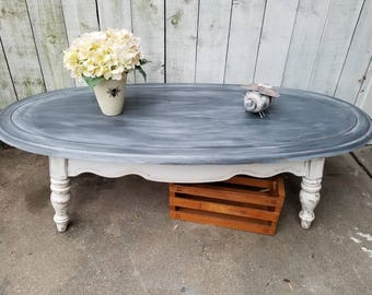 Shabby Chic Coffee Table Vintage Wood Coffee Table French Country Gray  Coffee Table Surfboard Coffee Table
