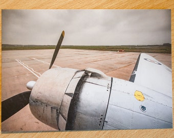 Postcard, Aviation, Douglas, DC3, Classic Aircraft, Aviation, Flying, Flight, Wing View,