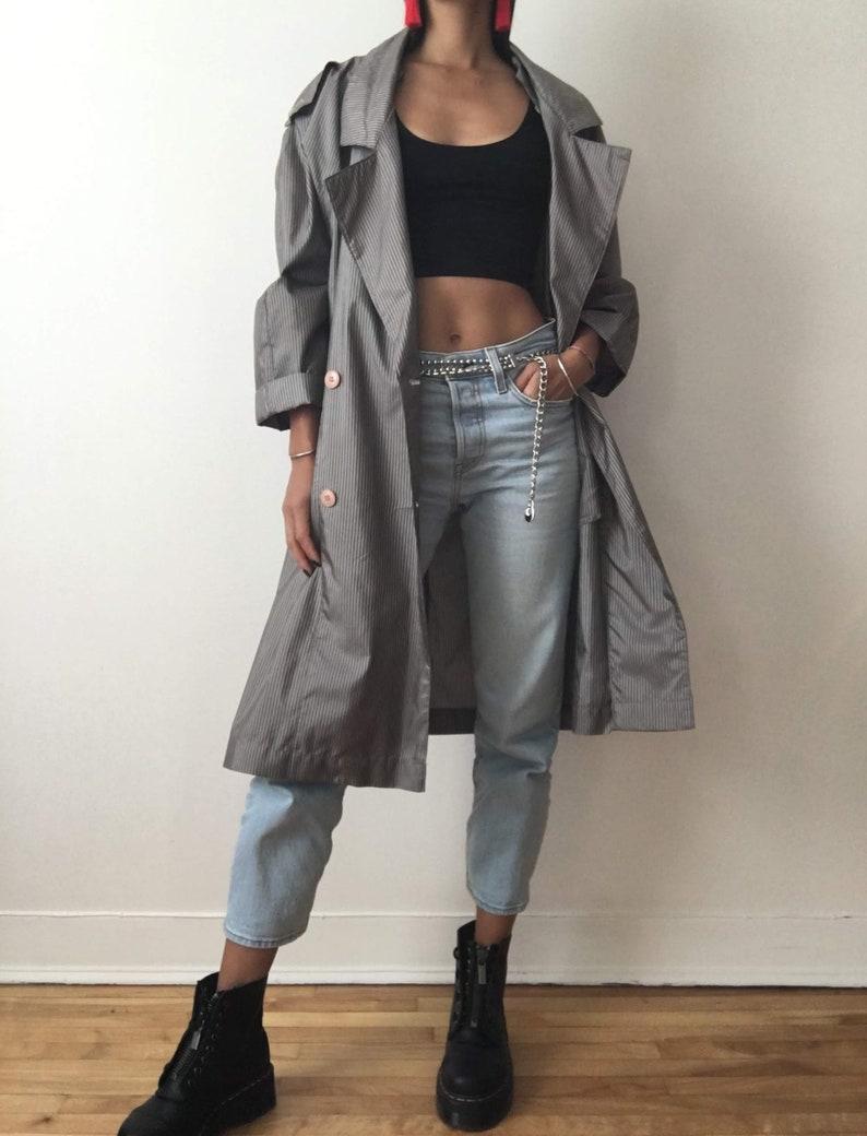 Vintage handmade super lightweight grey jacket woman gray coat image 0