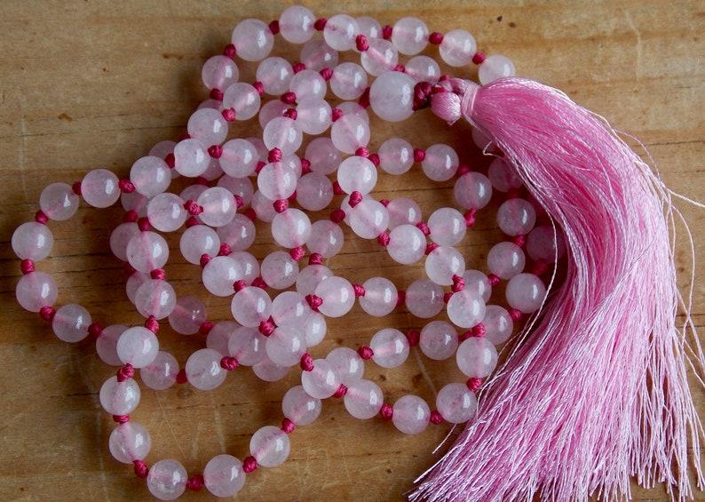108 Rose Quartz Mala Beads