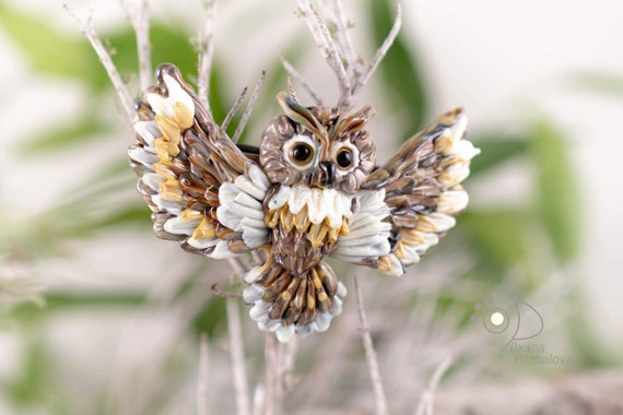 Owl hair clip - Hair barrette gift - hair clips women - hair jewelry women - gift for her hair clip - animal jewelry women