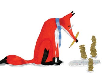 Financial Fox - A4 Print