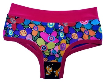 Funky, Unique, and Colorful Panties (Bombachas) - Flowers - S/M