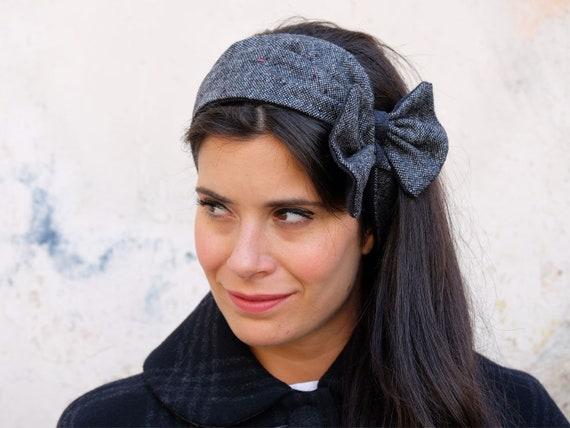 Top knot headband Tweed wool head wrap Ear warmer band  3581753cef5