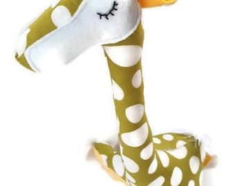 Giraffe Soft Toy, Stuffed Animal Toy, Baby Boy, Baby Girl Toys, Blue Giraffe, Baby Nursery Toy Gift, Giraffe Fabric Toy, Zoo Wild Animal Toy