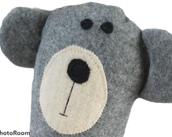 Grey Teddy Bear Soft Toy, Handmade Teddy, Stuffed Animal, Fabric Soft Toy Bear , Nursery Gift, Baby Gift, Home Living, Birthday, Baby Shower