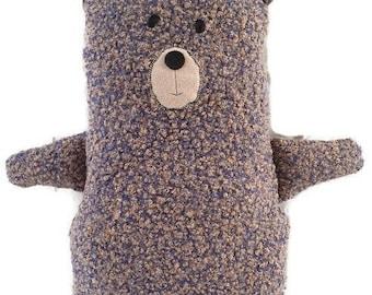 Blue Teddy Bear Soft Toy, Modern Handmade, Stuffed Animal, Fabric Soft Toy Bear, Nursery Gift, Baby Gift, Home Living, Birthday, Baby Shower