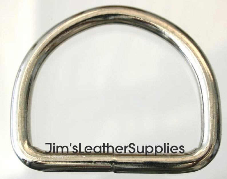 "NICKEL CAST D SHAPE BELT LOOP Leather craft 1,2,5,10 1-3//4/"" - 45 mm"