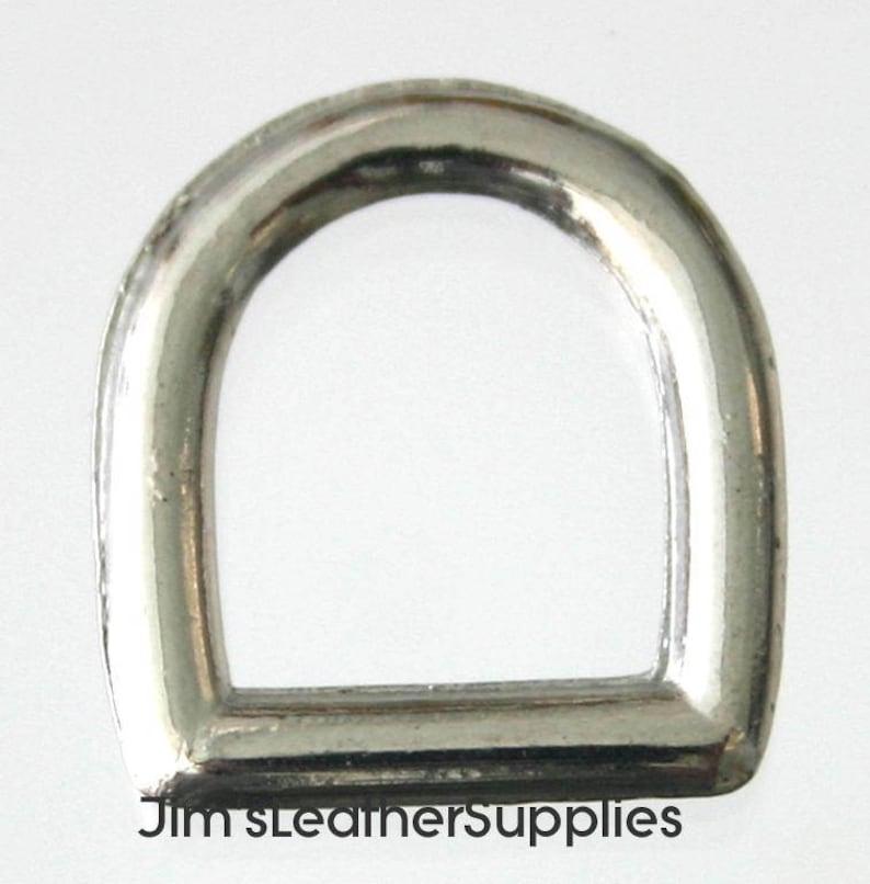 Cast #708 nickel plated steel 1.5mm 100 pack 38 D ring Dee