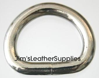 """3/4"""" D ring (Dee) Welded - 20 pack - nickel plated steel 4.7mm (#882)"""