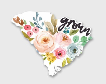 South Carolina Decal, South Carolina Sticker, South Carolina Art, South Carolina Map, Car Decals for Women, Car Decal, Car Stickers