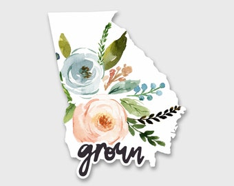 Georgia Sticker, Georgia State, Georgia Decal, Georgia Map, Yeti Decal, Yeti Stickers, Car decals for women, Car Stickers, Vinyl Decal
