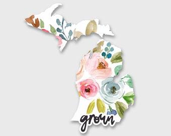 Michigan sticker, Michigan State, Michigan map, Michigan Decal, Car decals for women, Car Stickers, Vinyl Stickers, Yeti Decal, Yeti Sticker