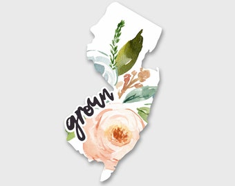 New Jersey Sticker, New Jersey Decal, New Jersey Map, Yeti Decal, Yeti Stickers, Car decals for women, Car Stickers, Laptop Stickers