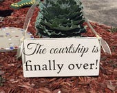 Items similar to WEDDING SIGNS | The Courtship is finally