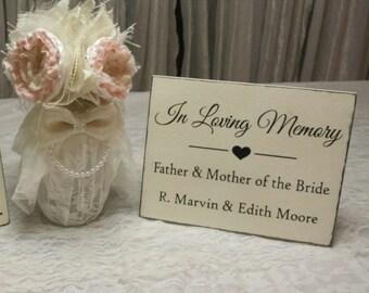 WEDDING MEMORIAL SIGNS | In Memory of Signs | Wood Signs | 8 x 10
