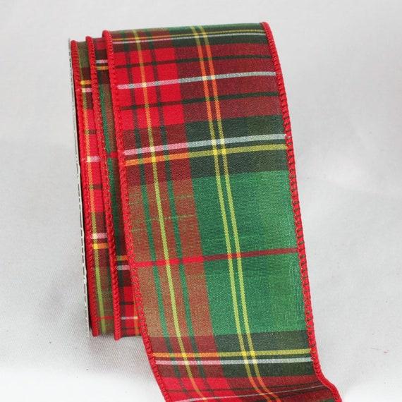 5m 25mm Rojo Navidad cinta de grogrén con Manopla Guante de impresión en 1m 10m 25m