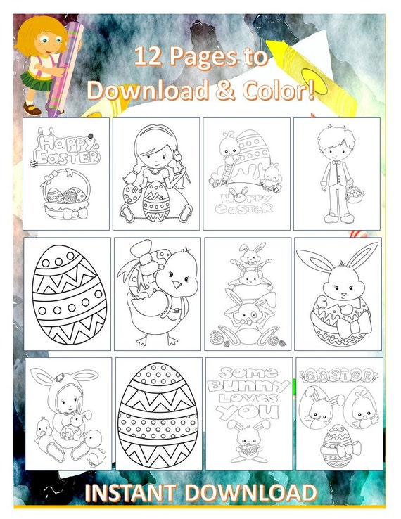 Easter Coloring Pages for Kids  Kids Coloring Sheets  Easter
