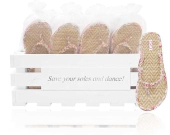 e93aecb5b065 Personalised flip flop crate containing 30 beach matt style flip flops