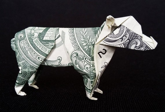 Origami 3D DOLPHIN Figurine Money Statue Real $1 Dollar Bill Art Gift Home Decor