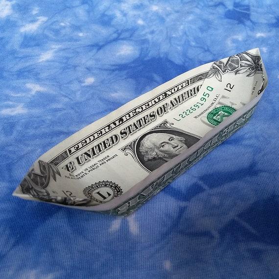Dollar Origami Boat | Dollar origami, Origami boat, Money origami | 570x570