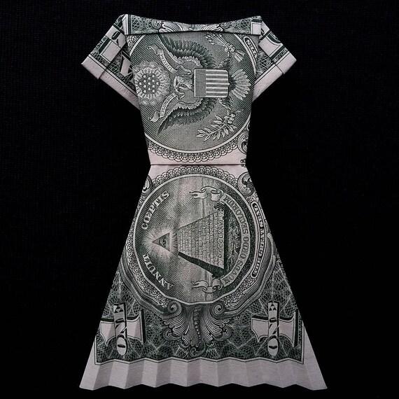 Origami Small PUMPKIN Money Halloween Gift Handmade Real One Dollar Bill Decor