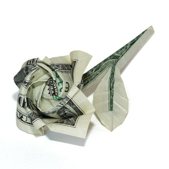 Money Origami Rose Artificial Flower Romantic Gift Real One Etsy