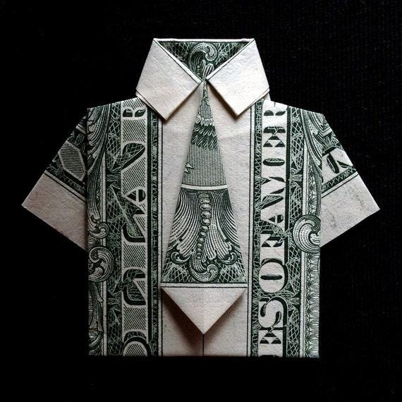 Mini Dress Shirt Lucky Charm Money Origami Home Decor Handmade Etsy