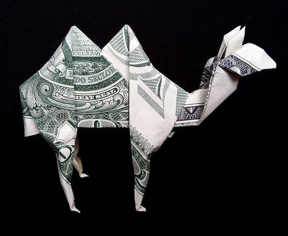 Dollar Bill Origami GIRAFFE Great Gift Idea by VincentTheArtist ... | 466x570