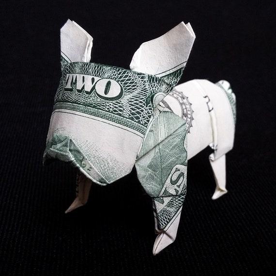 KOI FISH Diagram (3 of 5) Money Origami Dollar Bill Art   Origami ...   570x570