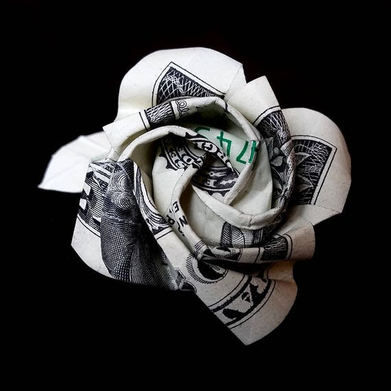 Origami Folding Money | Money rose, Money flowers, Money origami | 570x570