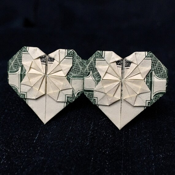 Modified dollar bill Heart (2 of 2) | Design: Kathleen Welle… | Flickr | 570x570
