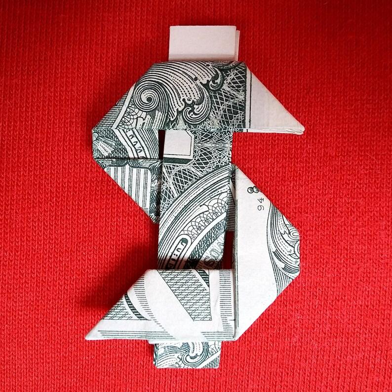 Origami Signe Dollar Breloque Argent Symbole Main Usd Art Mur Etsy