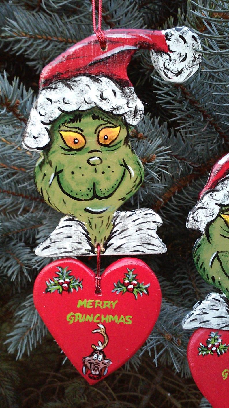 Hand Painted Wood Christmas Tree Ornament
