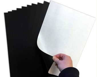 5pcs Self-Adhesive A4 Magnetic Sheets for Arts Crafts and Storage 0.5mm Thick UK