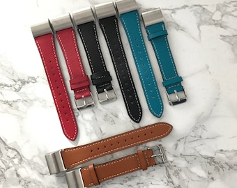 Real Leather Single Tour Band for Fitbit Charge 2 / 4 Colours