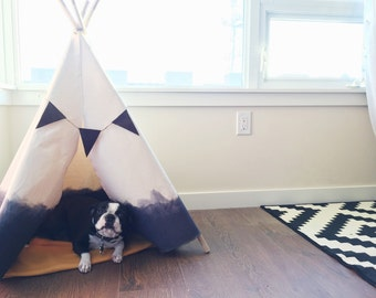Dip Dyed Teepee - Extra Large in Grey